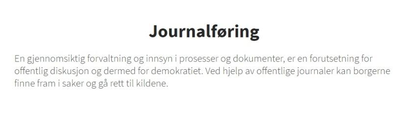journalføring
