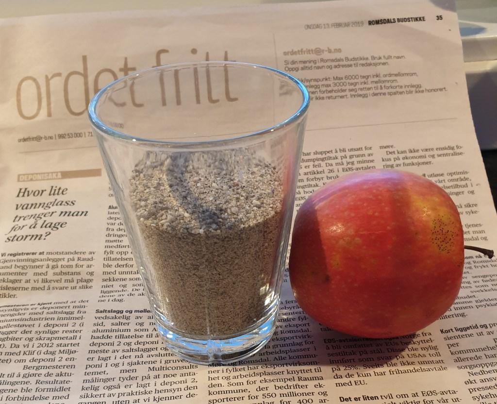 Hvor lite vannglass trenger man for å ufarliggjøre farligavfall?