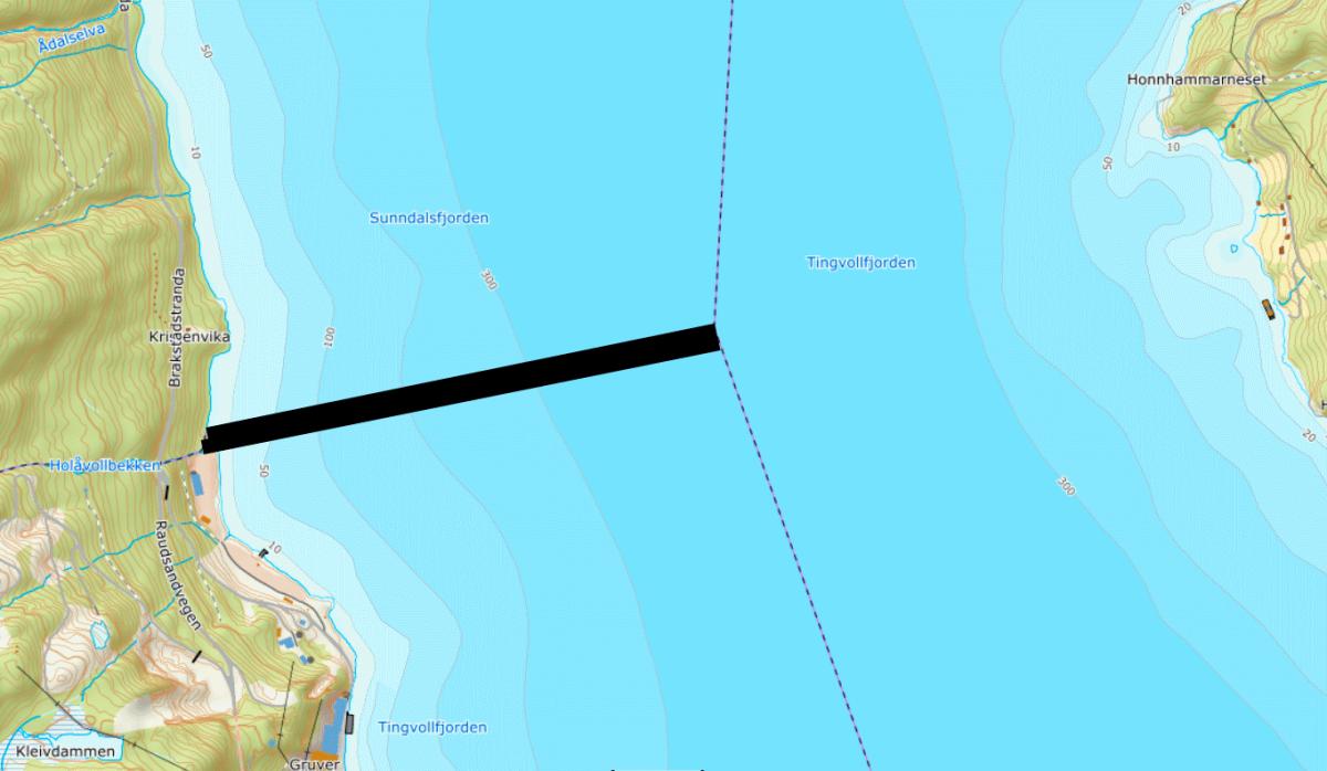 Gråsone i Sunndalsfjorden